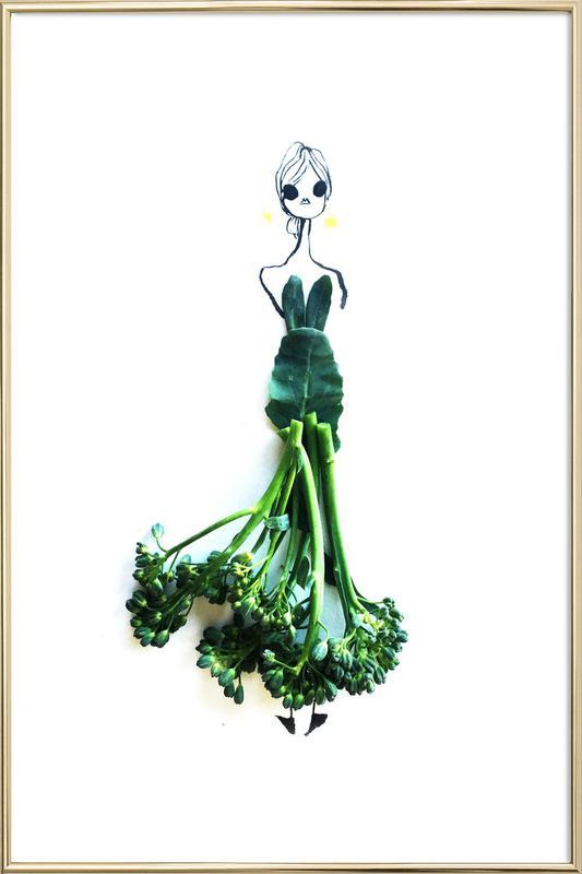 Broccoli -Poster im Alurahmen