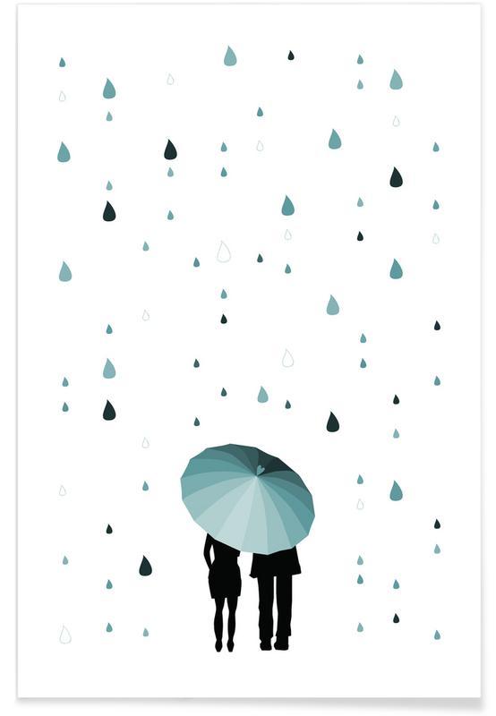 Paare, Rainy Days - Come Under My Umbrella -Poster