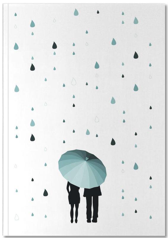 Paare, Rainy Days - Come Under My Umbrella Notebook