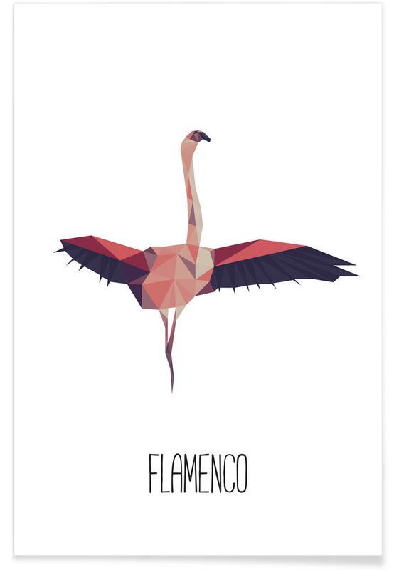 Flamingos, Flamenco -Poster