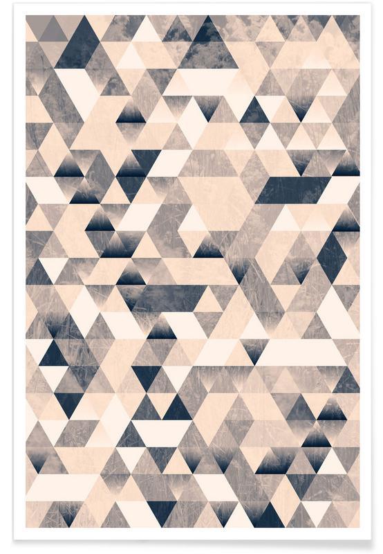 Muster, 3ecke Mono -Poster