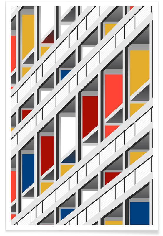Architekturdetails, Lecorb -Poster