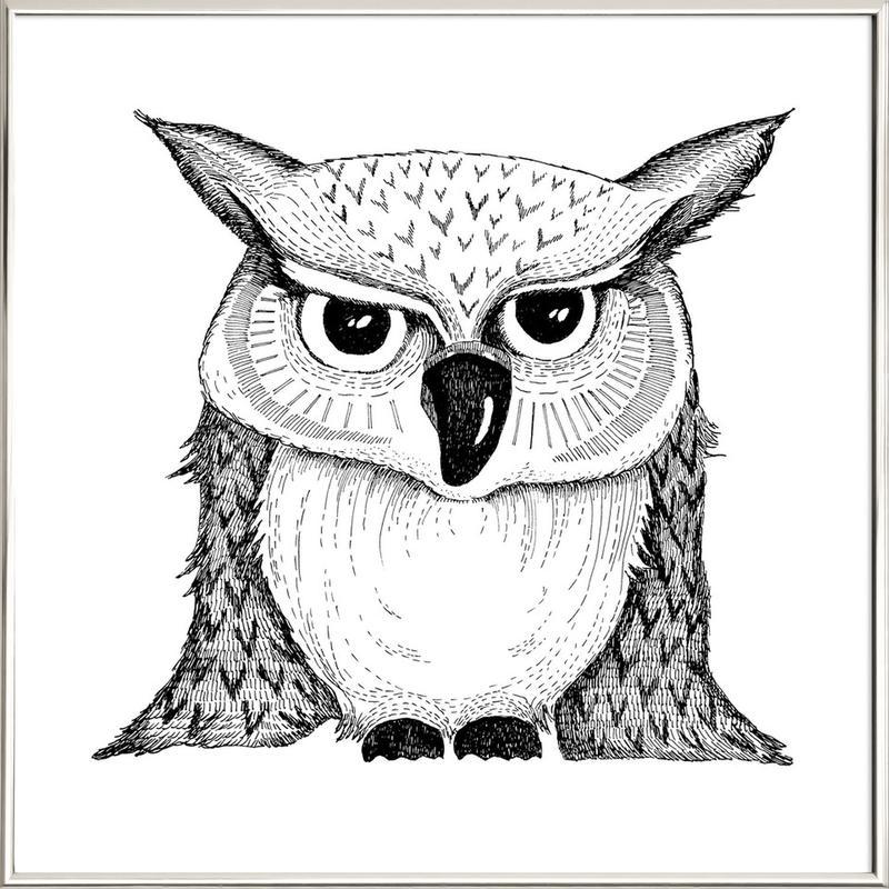 Owl Poster in Aluminium Frame