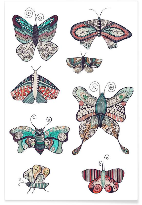 Papillons, Schmetterling affiche