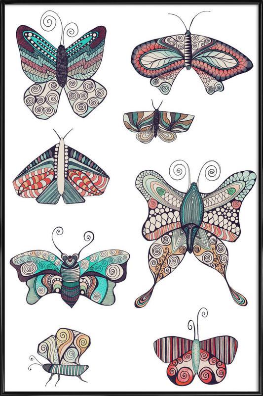 Schmetterling ingelijste poster