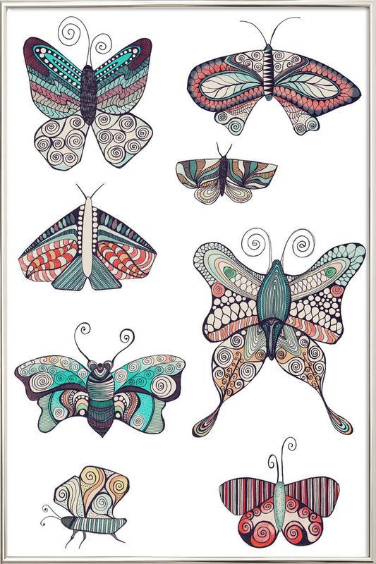 Schmetterling poster in aluminium lijst