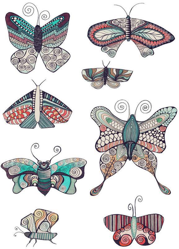 Schmetterling canvas doek