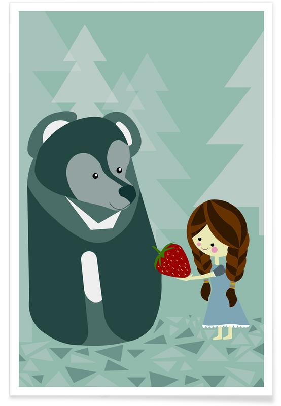 Kinderzimmer & Kunst für Kinder, Erdbär -Poster