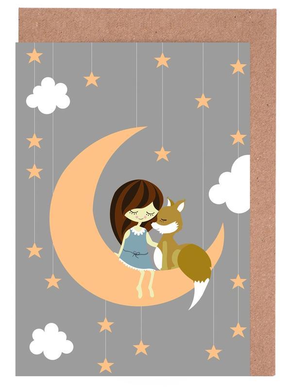 Foxy Moon Greeting Card Set
