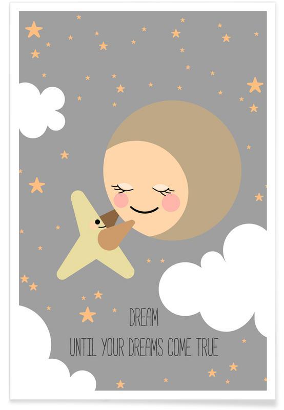 Art pour enfants, Moon affiche