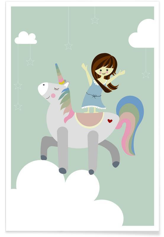 Kinderzimmer & Kunst für Kinder, Einhörner, Unicorn -Poster