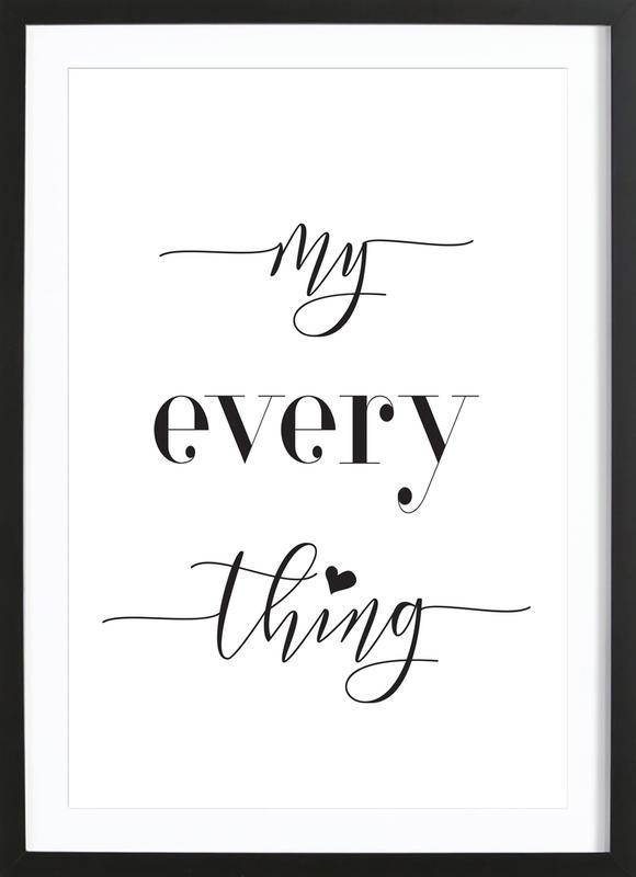 Everything -Bild mit Holzrahmen