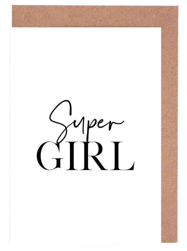 Super Girl Greeting Card Set
