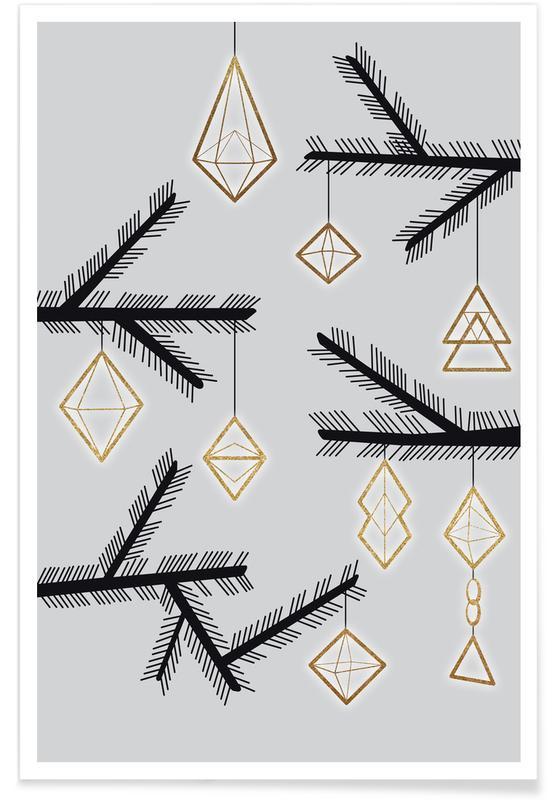 Weihnachten, Abstract 3 -Poster