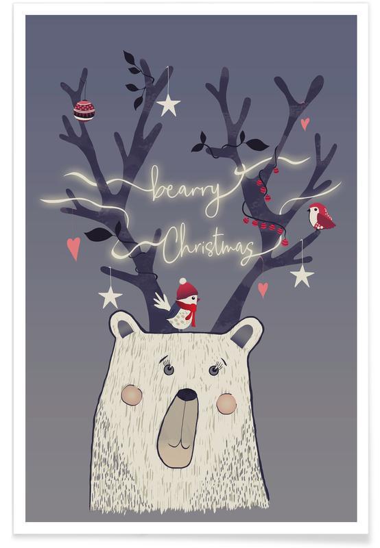 Bären, Weihnachten, Bearry X-Mas -Poster