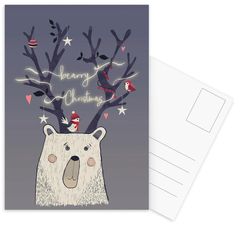 Ours, Noël, Bearry X-Mas cartes postales