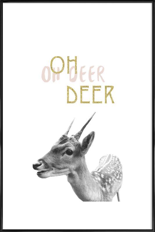 Oh Deer Framed Poster
