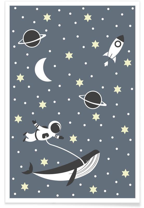 Astronauten, Kinderzimmer & Kunst für Kinder, Astronaut -Poster