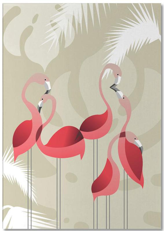Kinderzimmer & Kunst für Kinder, Flamingos, Flamingo -Notizblock