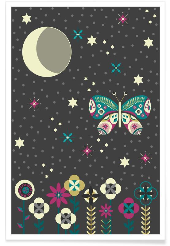 Kinderzimmer & Kunst für Kinder, Jungle Nights -Poster