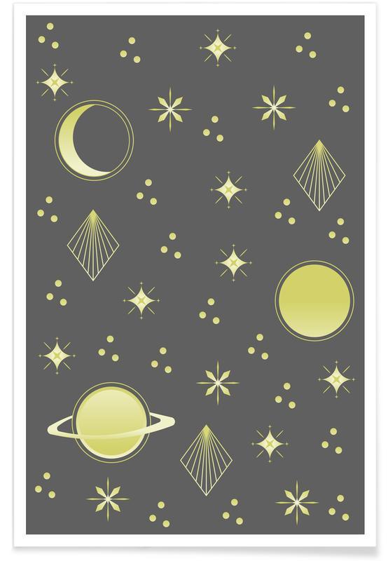 Kinderzimmer & Kunst für Kinder, Night Sky -Poster