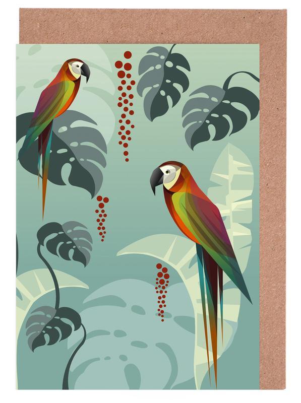 Art pour enfants, Perroquets, Parrot cartes de vœux