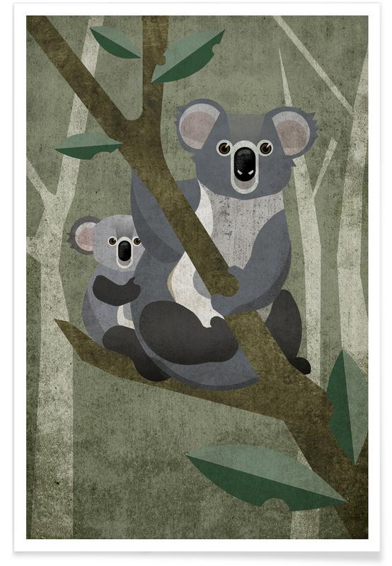 Koalas, Art pour enfants, Koala affiche
