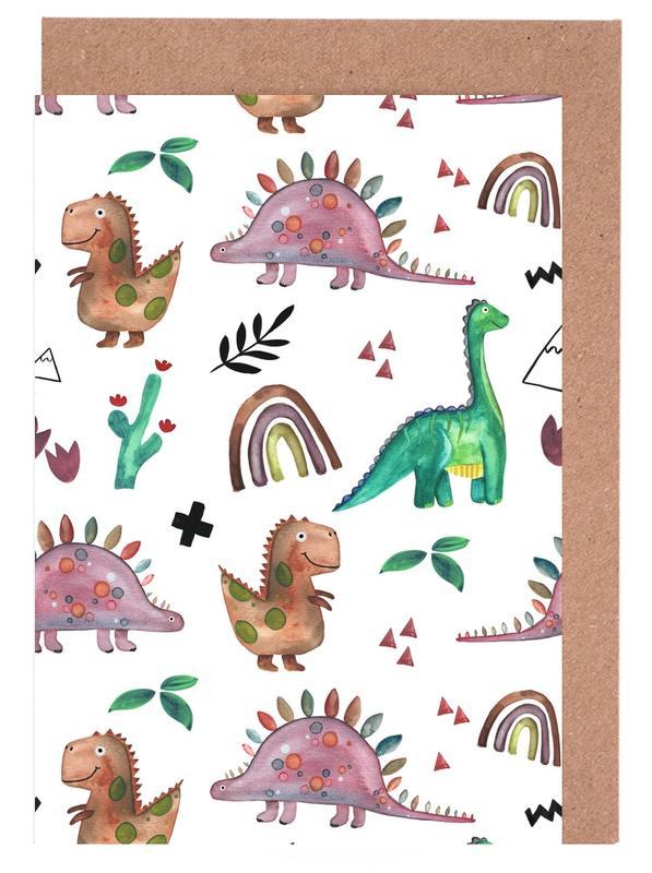 , Dino -Grußkarten-Set