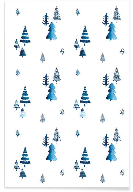 Weihnachten, Xmas Trees -Poster