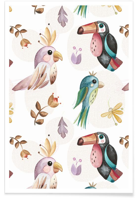 Airplanes, Birds Poster