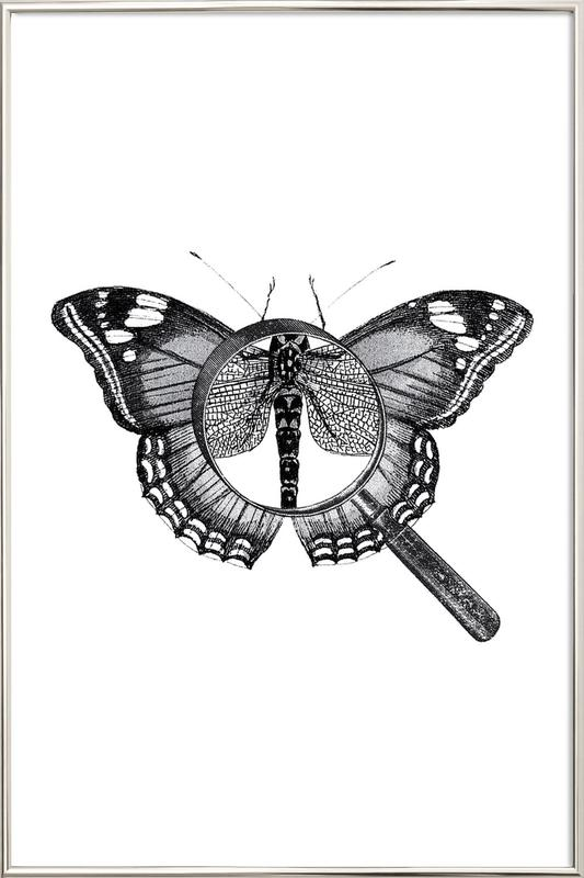 Loeping Good (Butterfly) Poster in Aluminium Frame