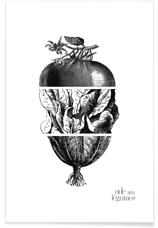 Zwart en wit, Ode aux Légumes - 2 poster
