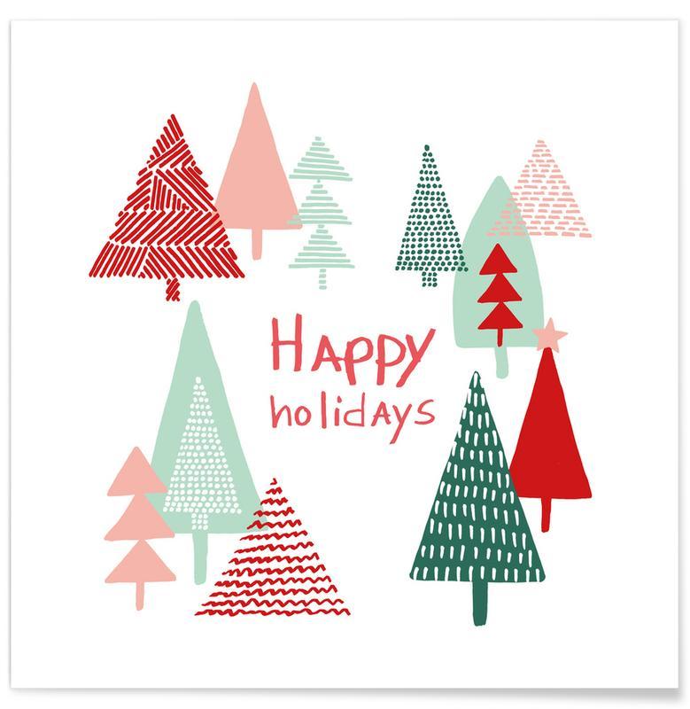 Kerst, Xmas Happy Holidays poster