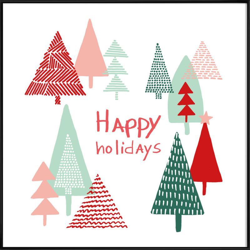 Xmas Happy Holidays Framed Poster