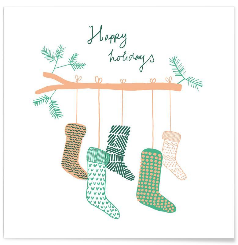 Kerst, Xmas Happy Holidays 2 poster