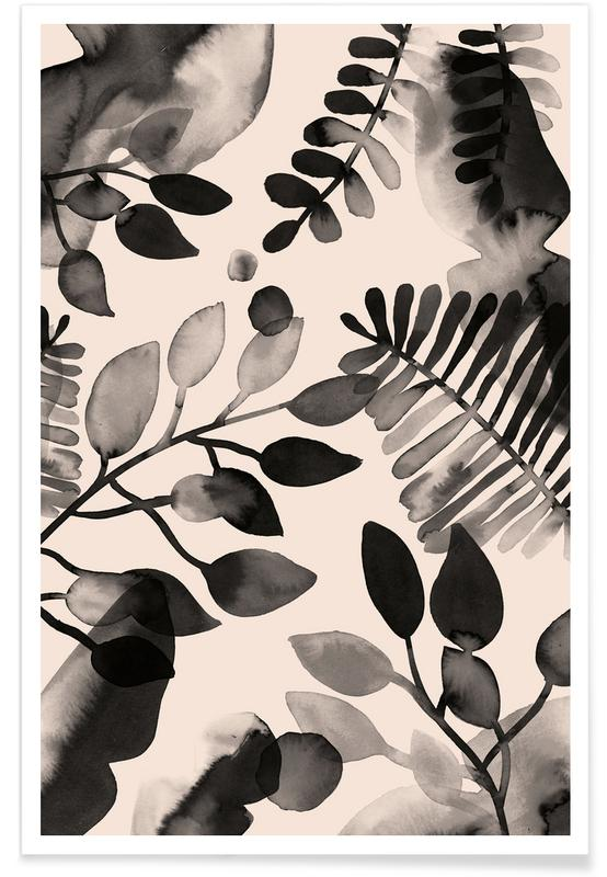 Leaves & Plants, Patterns, Leaves - Pink Poster