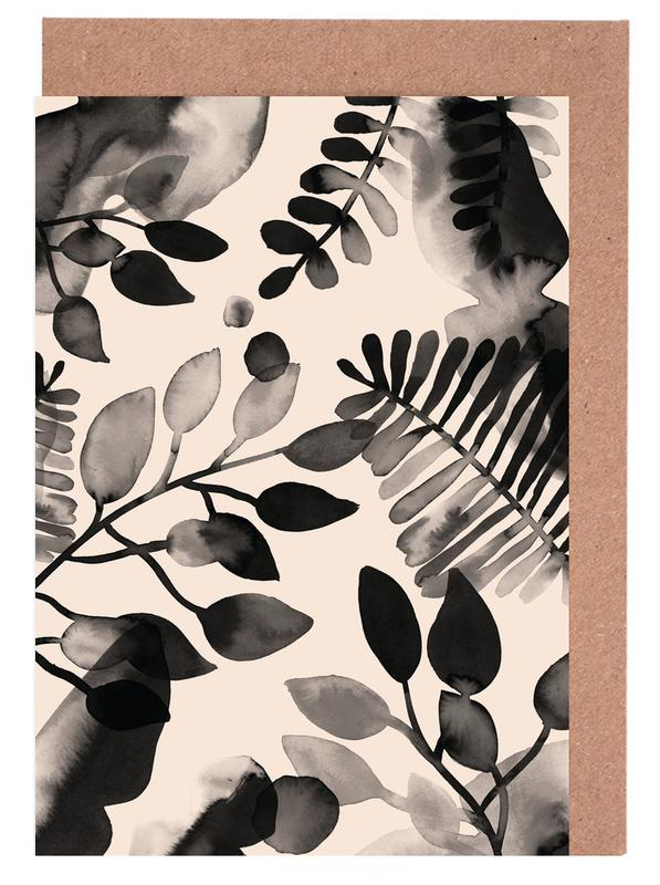 Leaves - Pink Greeting Card Set