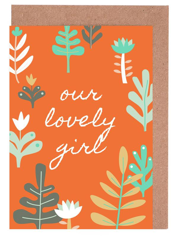 Our Lovely Girl Greeting Card Set