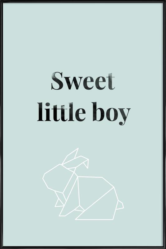 Sweet Little Boy Framed Poster