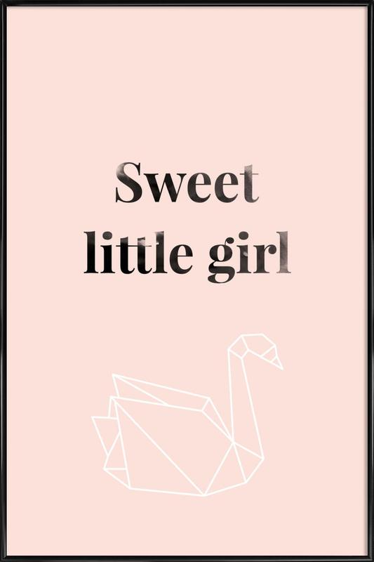 Sweet Little Girl Framed Poster