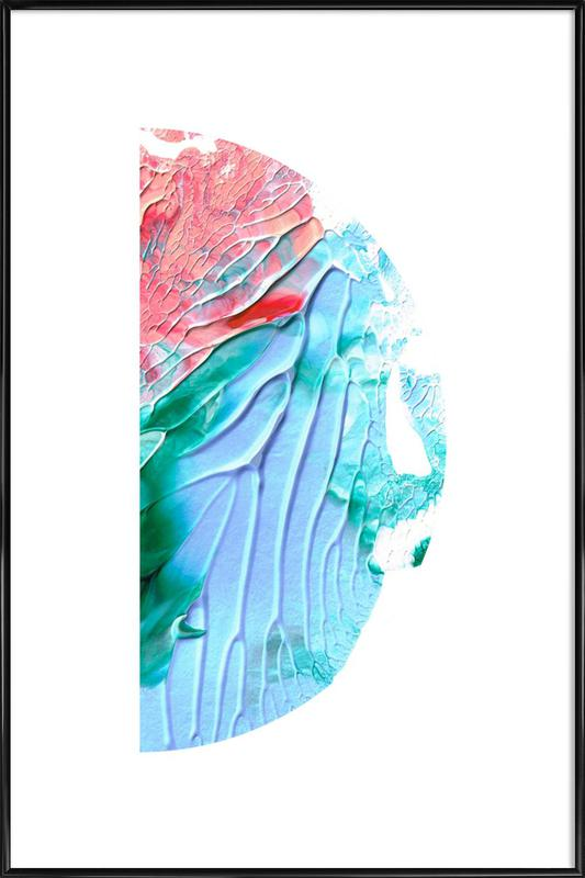 Holy Smudge (Blue & pink) Framed Poster