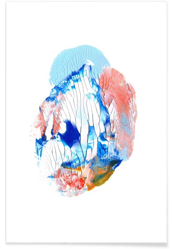 , Holy Smudge (Blue&white) poster