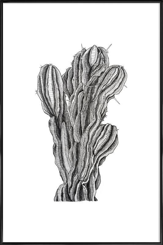 Bush Cactus -Bild mit Kunststoffrahmen