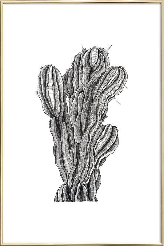Bush Cactus -Poster im Alurahmen