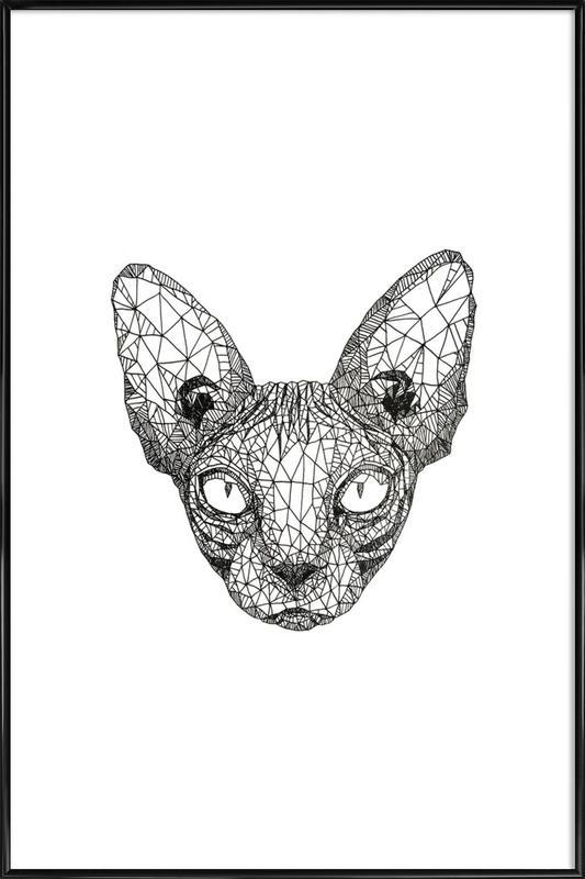 Sphynx Cat -Bild mit Kunststoffrahmen