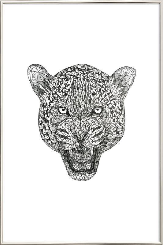 Jaguar -Poster im Alurahmen