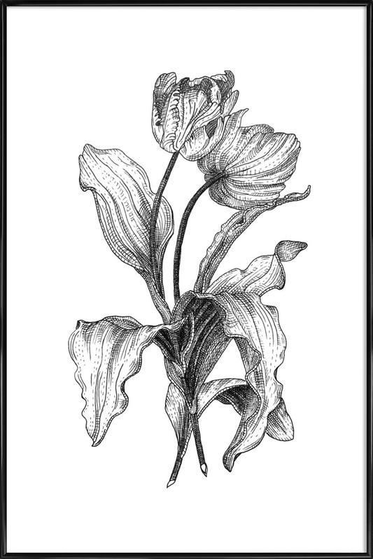 Tulips -Bild mit Kunststoffrahmen