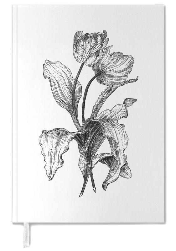 Tulpen, Retro, Zwart en wit, Tulips agenda