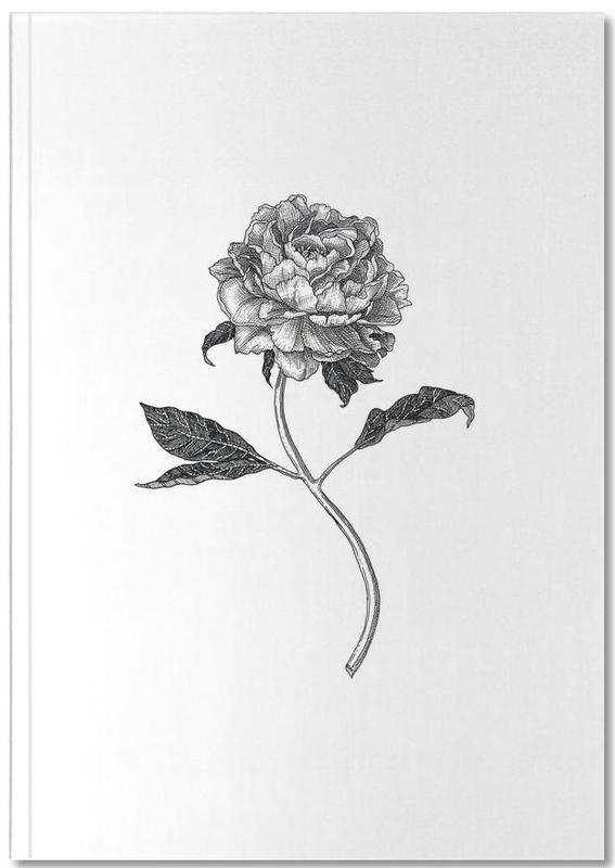 Noir & blanc, Rétro, Peony Notebook