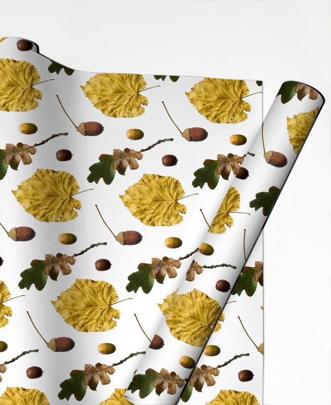 Leaves & Plants, Patterns, PATTERN AUTUNNALE I Gift Wrap